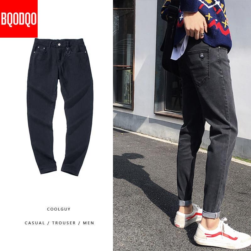 Black Brand Jeans Denim Men Skinny Hip Hop Casual Pants Streetwear Fashion Trousers Male Joggers Japanese Harem Pencil Pants 5XL