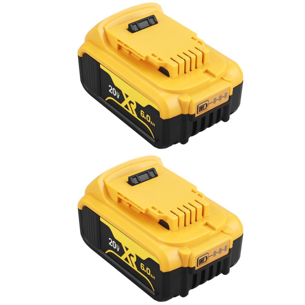 Сменный литий-ионный аккумулятор для DeWalt MAX XR DCB205 DCB201 DCB203, 20 в, 3,0 Ач, 6,0 Ач