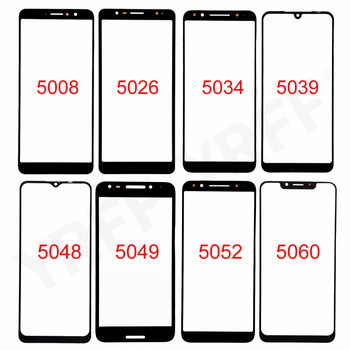 For Alcatel 5008 5026 5034 5039 5048 5049 5052 5060 Front Screen Glass Panel (No touch Screen) Outer Glass Cover Panel image