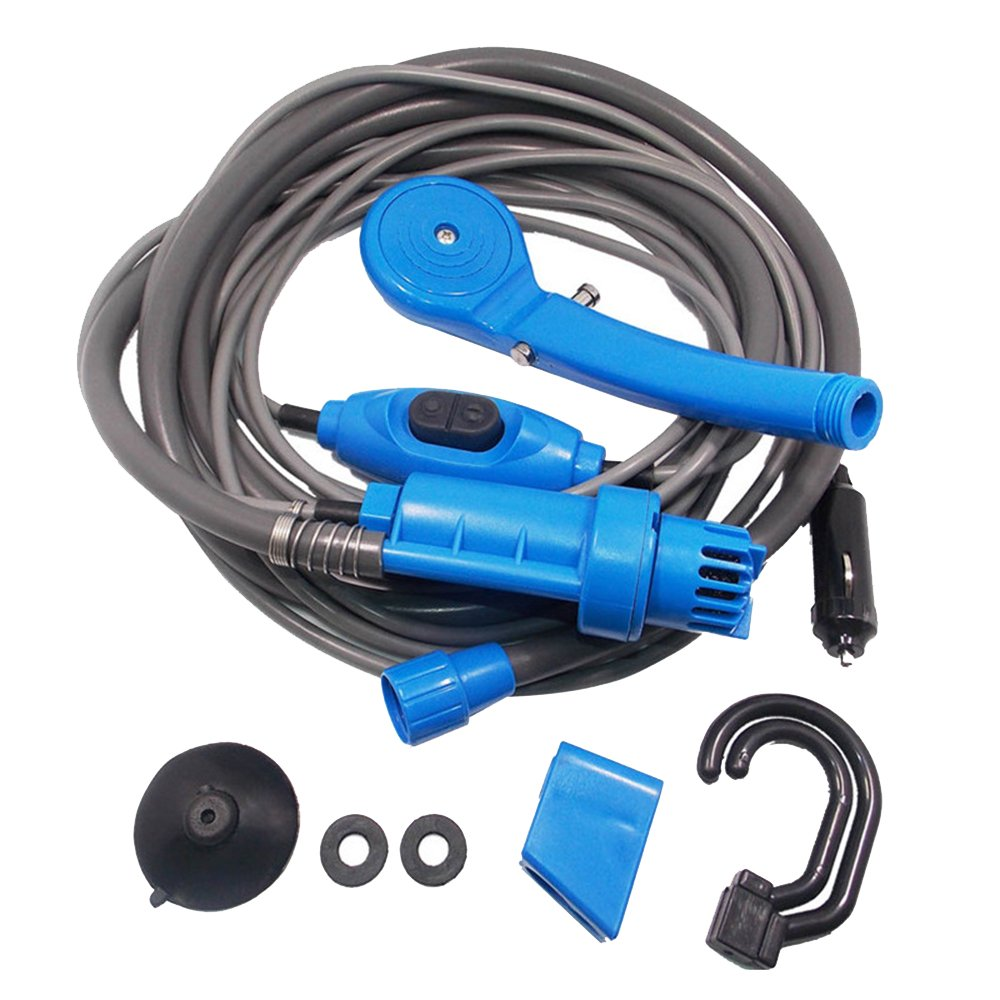 Car Washer 12V Portable Car Shower Washer Set Electric Pump Outdoor Camping Car Wash Travel Cleaning Tool