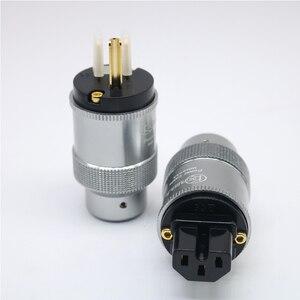 Image 5 - Par de krell de alta qualidade banhados à ouro, tomada de energia cei, conector de áudio hi end, cabo de energia ac, para audiofil cabo de rede diy