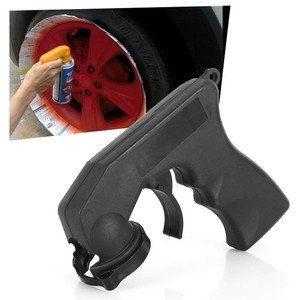 Image 2 - Spray Adapter Paint Care Aerosol Spray Gun Handle with Full Grip Trigger Locking Collar Car Maintenance