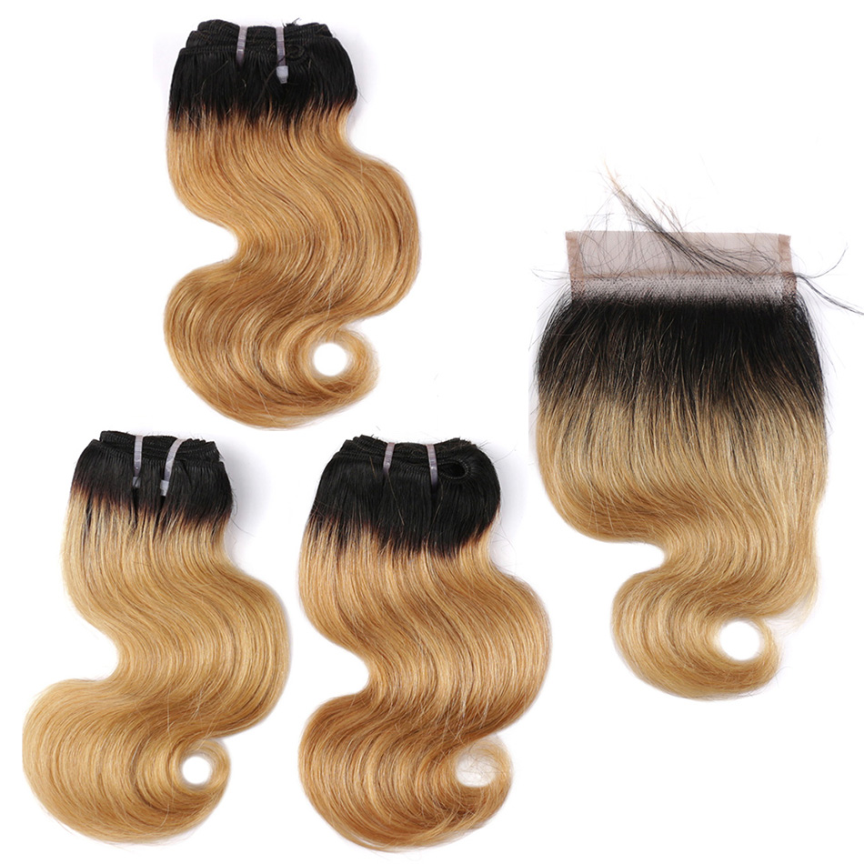 Real Beauty Brazilian Body Wave 3 Bundles  With Closure  8