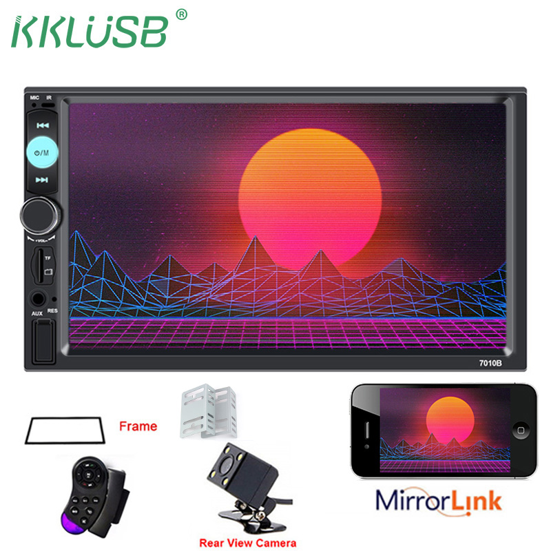 7/'/' HD Bluetooth MP5 Player Auto Radio Stereo Car Touch Screen 2 DIN+Rear Camera