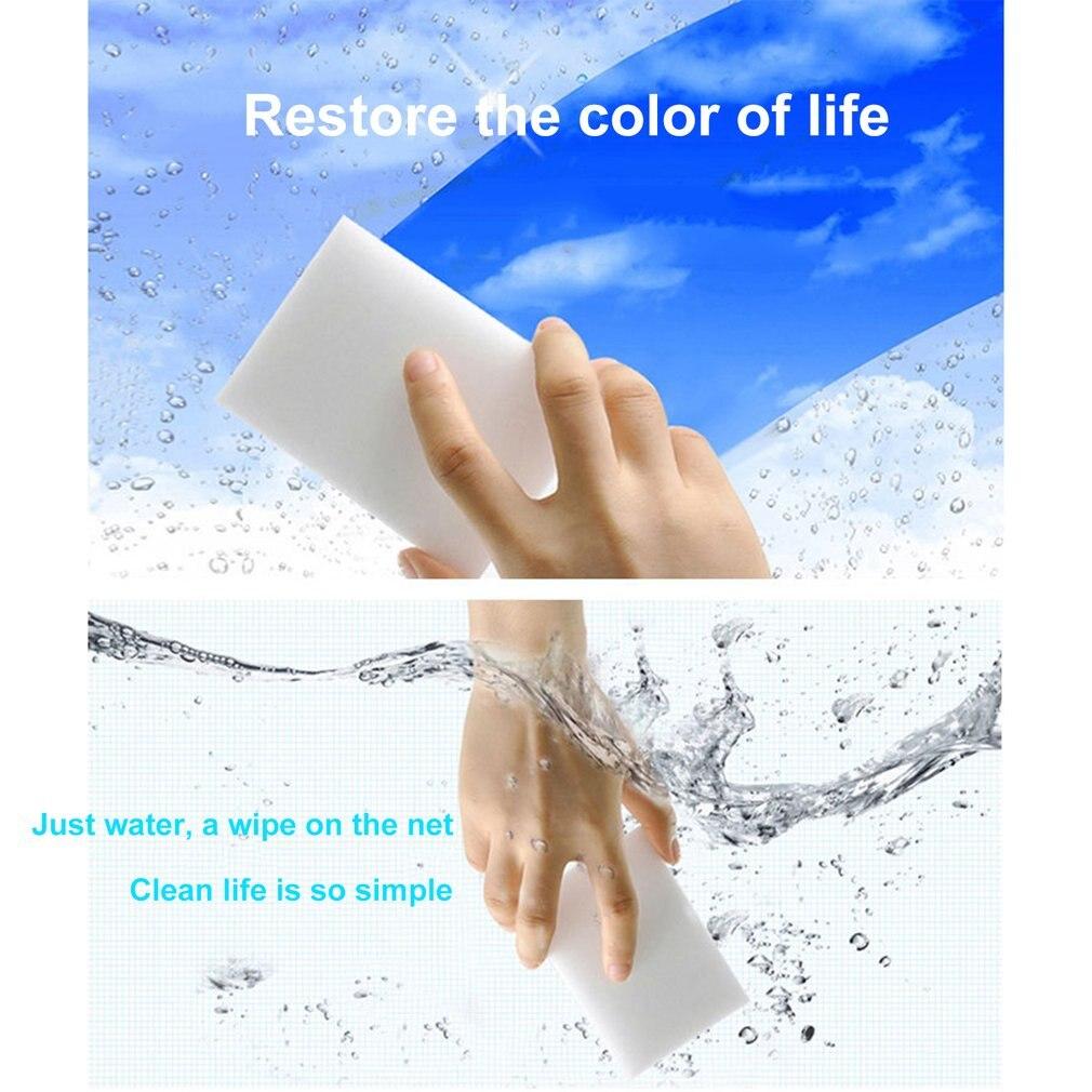 Esponja cozinha limpa 100 pces branco multi-funcional esponja mágica limpador de borracha 100x60x20mm