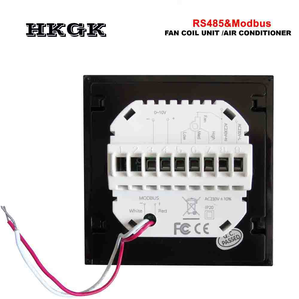 RS485 Proportioneel Valve 0-10V Signaal Control 2Pipe Cooling Heating Air Conditioning Type Fan Coil Unit Thermostat