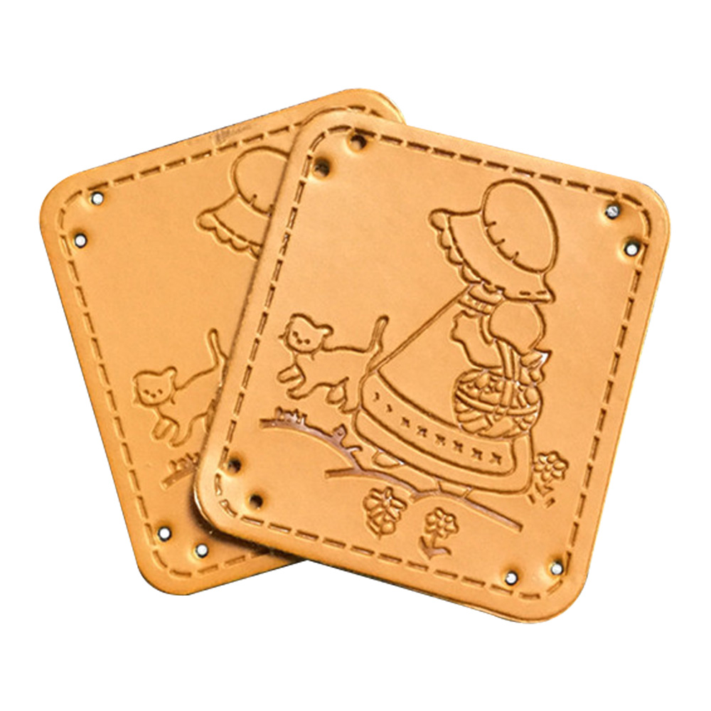 Clothing Hand Sewing Leather Patches For Shoes Natural Life Hand Made Label Custom Diy Leather Craft Accessories For Backpack