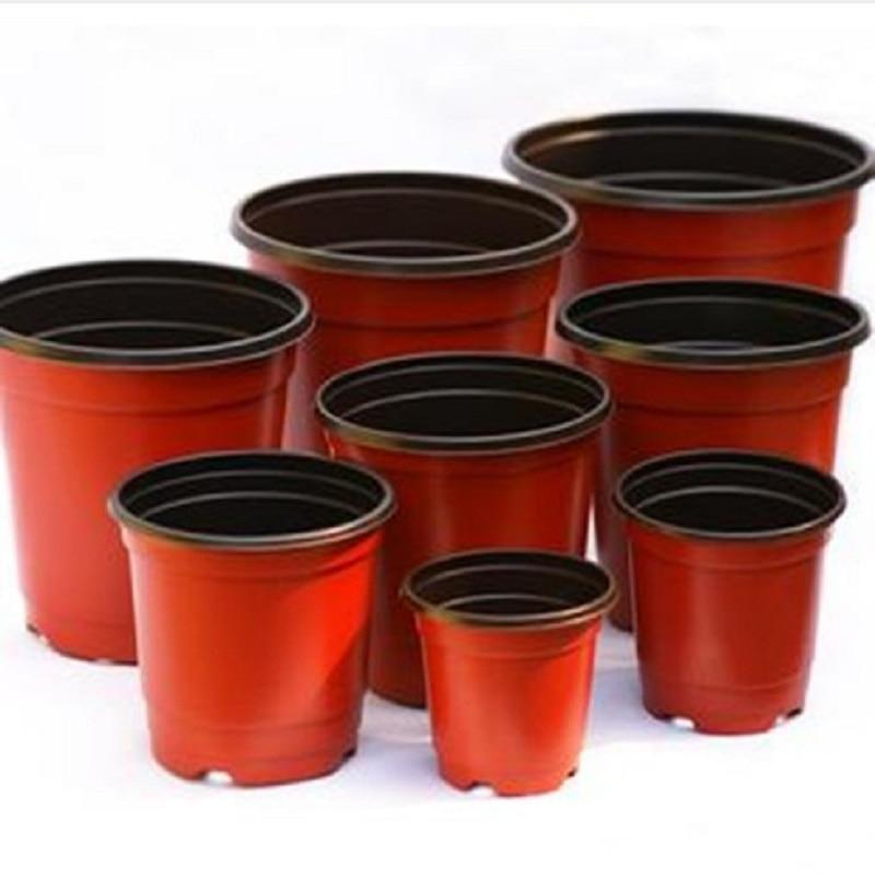 10x Mini Plastic Round Flower Pot Terracotta Nursery Planter Home Garden DecorCL