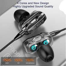 Новые наушники с двойным басом 4d динамиком 35 мм стереогарнитура