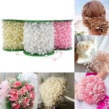 5メートル白ライン人工真珠diyの花輪花の結婚式の装飾用品花嫁の花アクセサリー