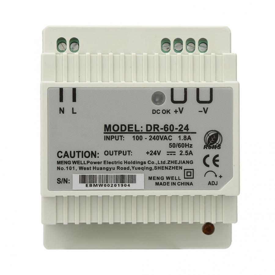 DR-60-24 60W Single Output 24V Din-Rail Power Supply AC/DC Switching Power Supply Din-Rail Power Supply Electrical Access