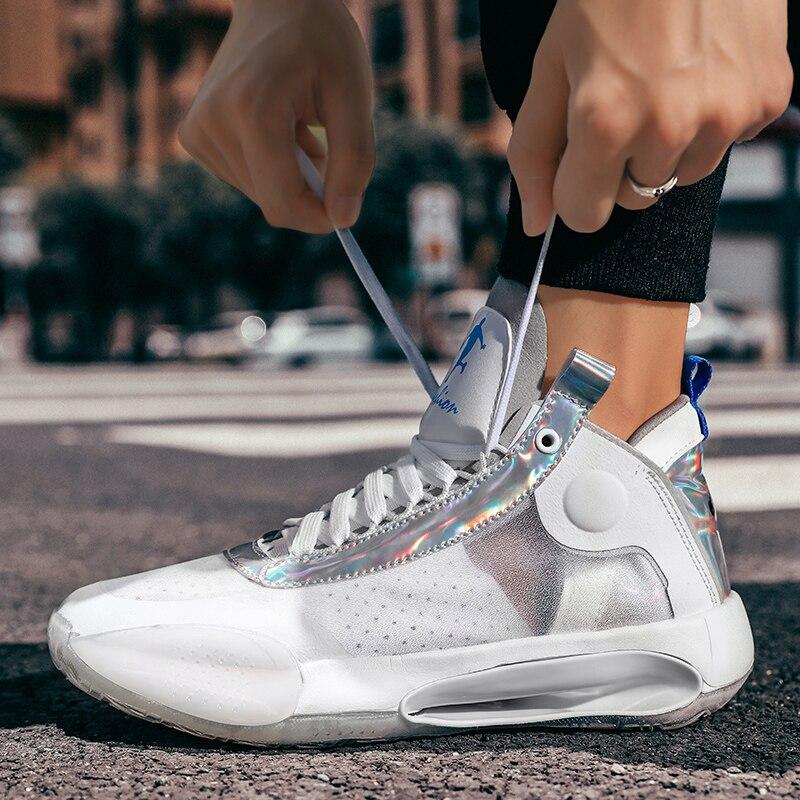 WYEZ Calzado de Baloncesto Zapatillas de Baloncesto para Hombre Zapatillas de Baloncesto Antideslizantes Resistentes al Desgaste,Azul,36