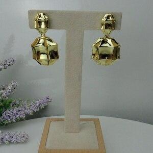 Image 1 - Yuminglai pendientes brasileños de oro de Dubái para mujer, 24K, FHK7977