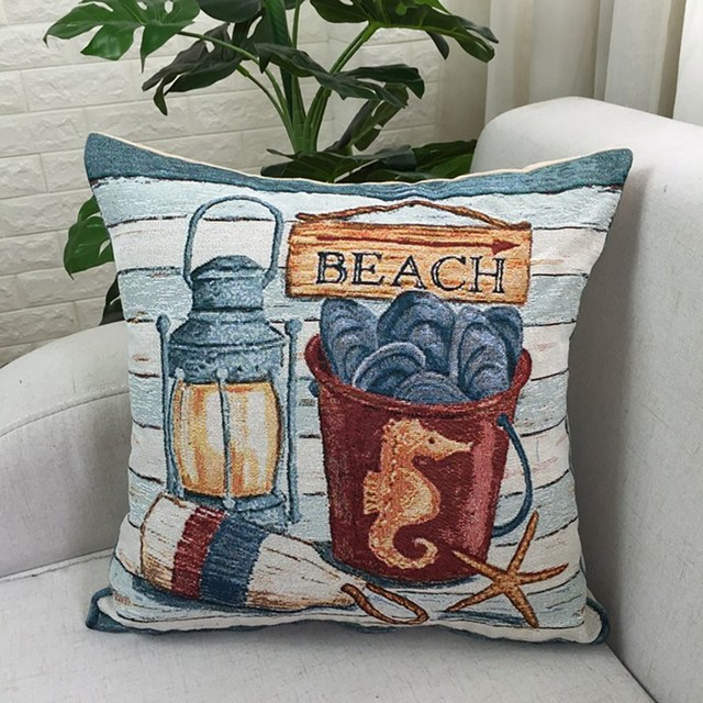 Beach House cushion Cover 1