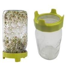 Семена Sprouter прорастание крышка Sprouting фильтр Mason крышка банки Sprouting чистая крышка Bean Sprouts фильтр Садоводство поставки G923