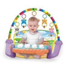 P15C 3 in 1 Baby Play Mat Baby Gym Toys Soft Lighting Rattles Piano Musical Educational Toy