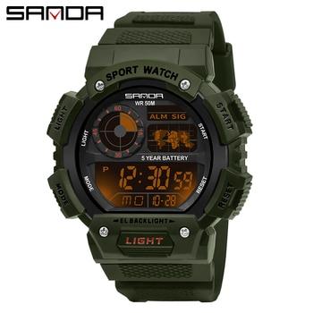 SANDA 2020 Sports Men's Watches Top Brand Luxury Military Quartz Watch Male 30m Waterproof S Shock Clock relogio masculino - discount item  30% OFF Men's Watches