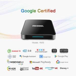 Image 3 - MECOOL KM3 ATV Androidtv Google certyfikat TV, pudełko z systemem Android 10 androida 9.0 4GB 64GB procesor Amlogic S905X2 4K 5G Dual Wifi KM9 PRO 4GB 32GB