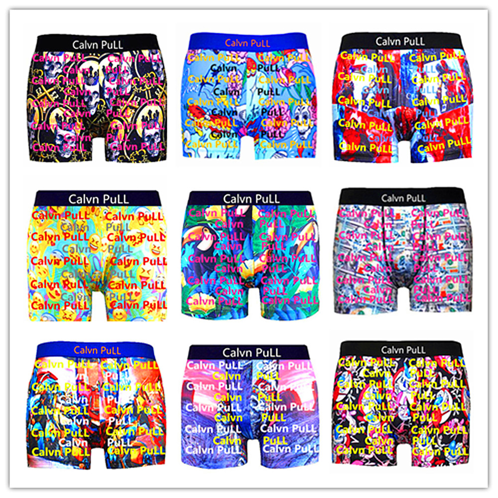 Wholesale Retail 2020 Brand Calvn PuLL Beach Underwear Men Boxer Shorts Sexy Bermuda Male Trunk Master Lovers Swimsuit Quick Dry