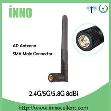 2,4 ГГц 5,8 ГГц 5G wifi антенна 2,4 ГГц 8dBi SMA разъем двухдиапазонный 2,4G 5,8G 5G wi fi антенна беспроводной маршрутизатор Антенна