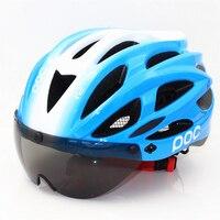POC Raceday en carretera bicicleta hombres mujeres casco de bicicleta luz trasera carretera de montaña Ciclismo cascos tapa de seguridad de la lente