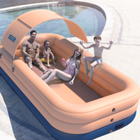 Family Wireless Inflatable Swimming Pool Thick Lounge Pool Summer Water Party Supply for Baby Kids Adult for Outdoor Garden