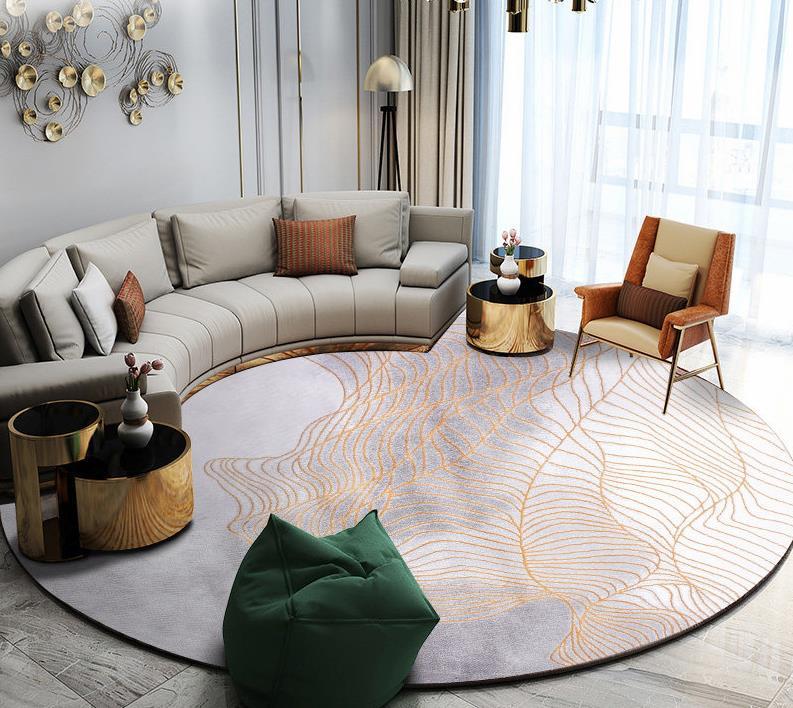 Скандинавские ковры для гостиной, домашний декоративный круглый ковер для спальни, дивана, журнального столика, круглый ковер, современный коврик для Кабинета - Цвет: 311001