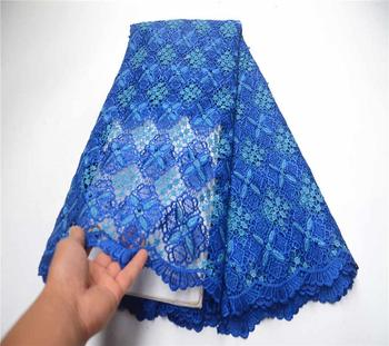 Embroidered African Lace Fabric High Quality nigeria cord lace fabric african guipure lace for wedding dress PSA861-1