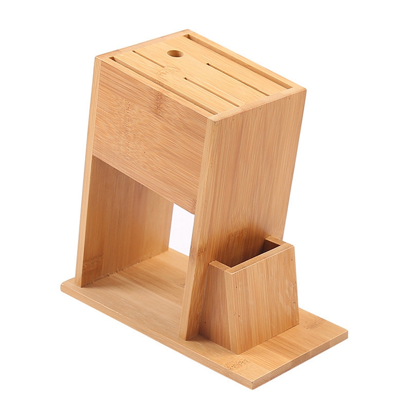 Promotion! Holder Multifunctional Storage Rack Tool Holder Bamboo Knife Block Stand Kitchen Accessories