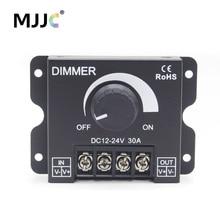 Knob LED Dimmer 12V 24V DC 30A 360W Rotating Controller Adjustable Brightness Single Color Strip Light Switch