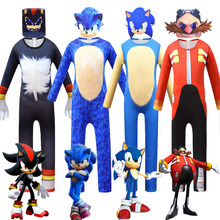 2020 New Sonic the Hedgehog Bodysuit Cosplay Costume Children's Game Glowing Mask Halloween Costume Boys And Girls Tights