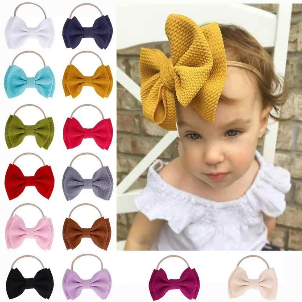 14 Colors Princess Bow Headband Turban Knotted Baby Girl Hair Accessories for Newborn Toddler Gift headwear Turban Dropshipping