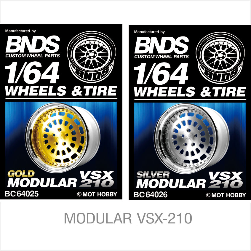 BNDS 1:64 Rubber Wheels Tire Collection Assembly JDM Style Custom Modified Parts For MODULAR VSX Model Car Vehicle 4pcs In Box