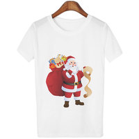 santa women shirts christmas 2019 womens clothing gothic print o-neck harajuku thanksgiving tree plus size tops vintage