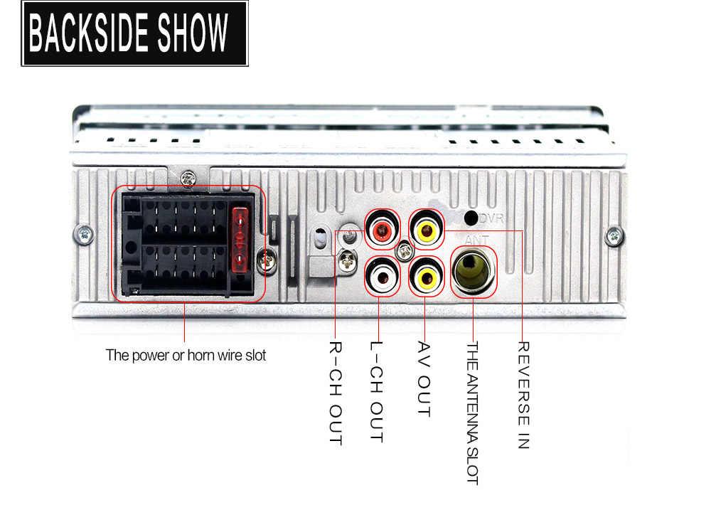 車ラジオ 1Din MP5 HD マルチメディアサポート USB/AUX/FM バックミラーカメラ Bluetooth ハンズフリーステアリングホイールリモート制御