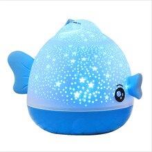 Hôn Cá Quay Đêm Chiếu Bầu Không Khí Quay Bầu Trời Đầy Sao Sao Chủ Trẻ Em Kids Cho Bé Giấc Ngủ Lãng Mạn LED USB