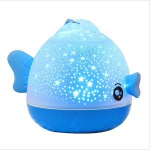 Image 1 - Kissing Fish Rotating Night Light Projector Atmosphere Spin Starry Sky Star Master Children Kids Baby Sleep Romantic Led USB