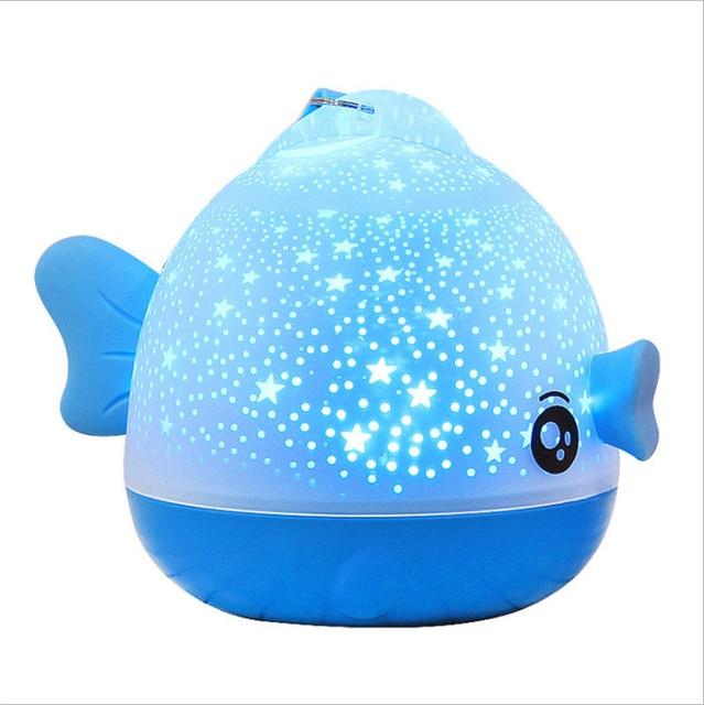 Kissing Fish Rotating Night Light Projector Atmosphere Spin Starry Sky Star Master Children Kids Baby Sleep Romantic Led USB