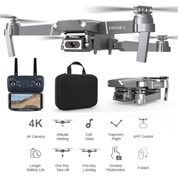 E68 RC Drone Altitude Hold 2.4GHz Video Headless Mode HD Camera LED Light Kids Gift Multifunctional WIFI FPV Folding Quadcopter
