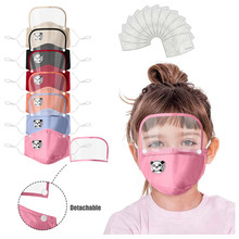 Protective-Face-Mask Eye-Shield Halloween Cosplay Kids Detachable with FILTER And