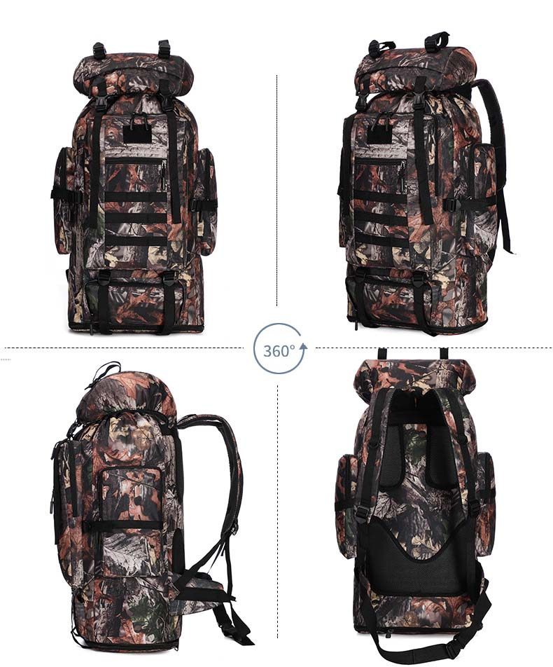 XL Tactical Backpack front, side and back views