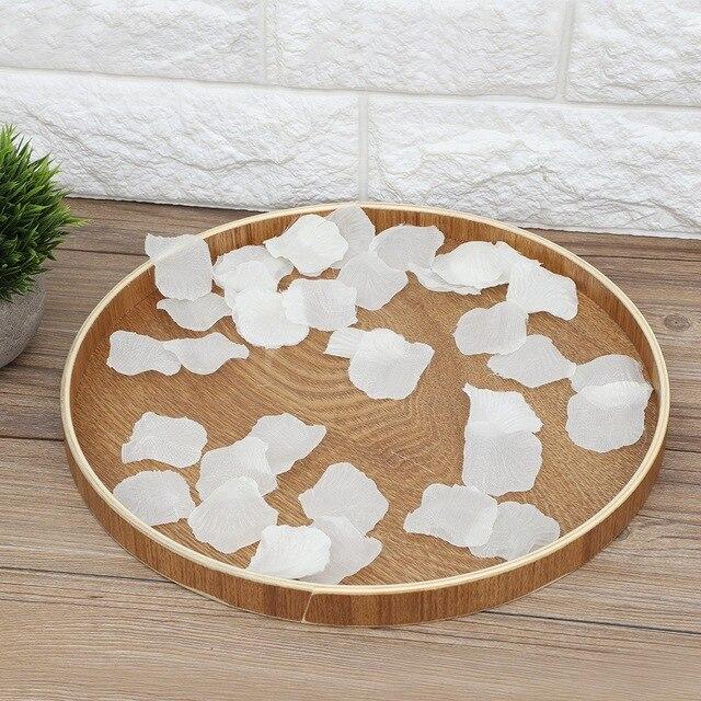 Bandeja de almacenamiento redondo de madera plato de comida de té Dishe plato de bebida plato de comida cena carne fruta Snack bandeja decoración hogareña Cocina