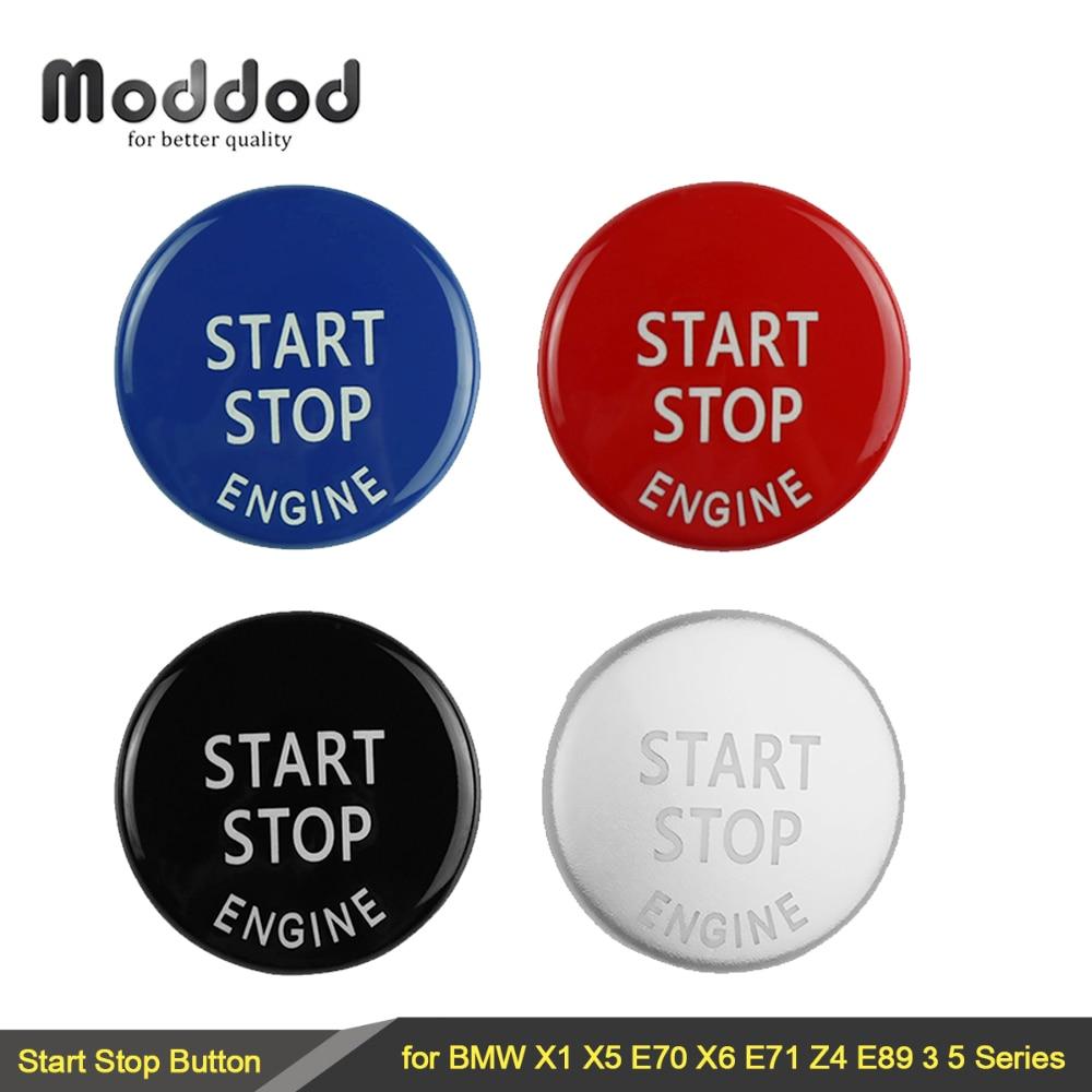 Аксессуары для кнопок запуска двигателя, декоративные кнопки для BMW X1 X5 E70 X6 E71 Z4 E89 1 3 5 серии E90 E91 E92 E60, сменная Крышка для автомобиля