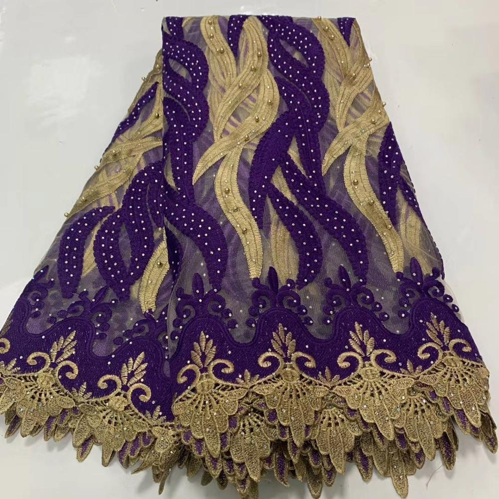 Nigerian Lace Fabric 2020 High Quality Lace Materials For Wedding African Lace Fabrics Mesh French Lace With Stones And Beads