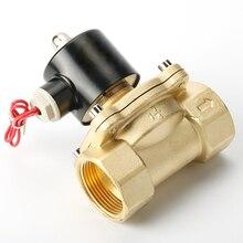 Электромагнитный клапан, латунный, нормально закрытый, для воды, масла, воздуха, 1/4/3/8/1/2/3/4/110/1/2 дюйма, 12 В постоянного тока, 24 В переменного тока, в