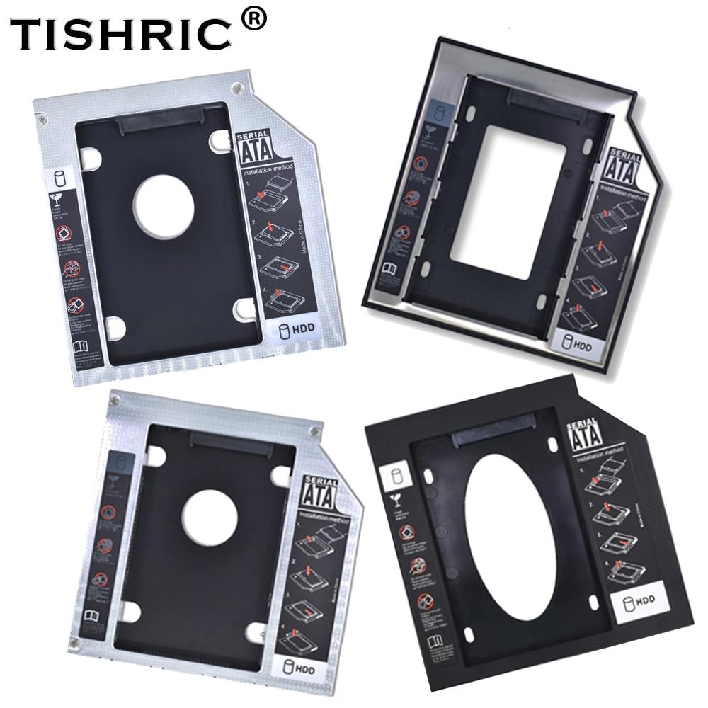 "Tishric Aluminum/Plastic 9.5/12.7mm SATA 3.0 2.5"" Universal HDD Caddy Case Enclosure Adapter DVD HDD Hard  Box For CD Optibay"
