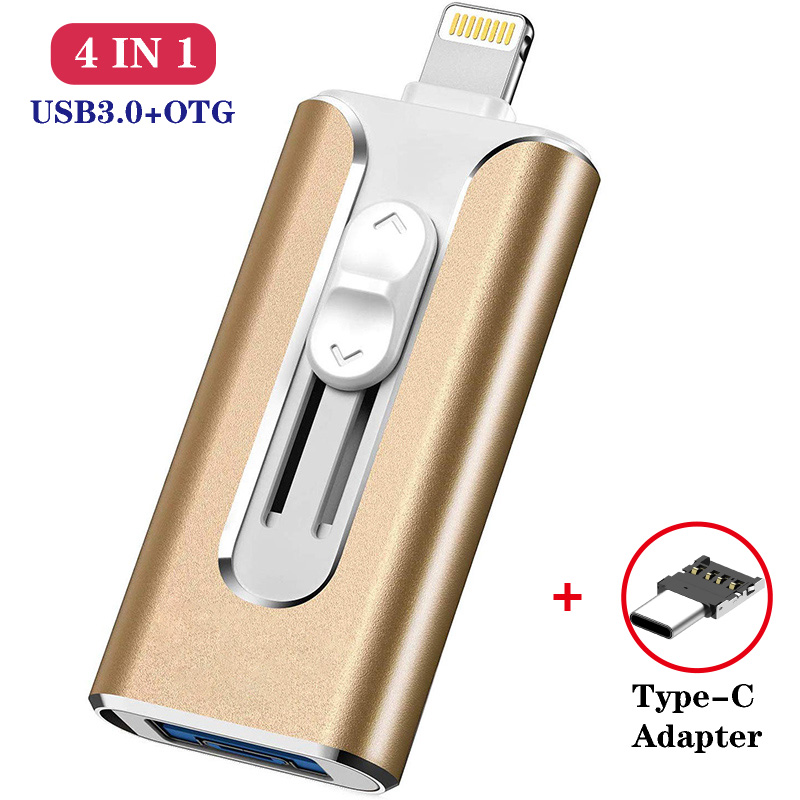 Microflash Usb Flash Drive For iphone 8/7/6s/6s Plus/6/5/5S/ipad Pendrive OTG 8gb 16gb 32gb 64gb 128gb Pen drive HD Memory Stick image