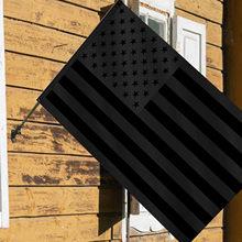 Bandera para exteriores, bandera Americana Negra, ojales, poliéster, resistente al agua, porche, jardín, decoración del hogar, 90x150cm
