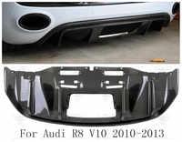Carbon Fiber Rear Bumper Lip, Auto Car Diffuser Fits For Audi R8 2010 2011 2012 2013
