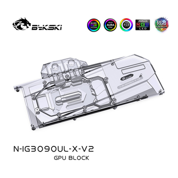 Bykski GPU Water Block For Colorful iGame Geforce RTX 3080/3090 Ultra OC 10G, Full Cover Watercooler ,N-IG3090UL-X-V2 bykski watercooler for rtx 3090 rtx 3080 maxsun palit founders edition full cover water block aic n rtx3090 x